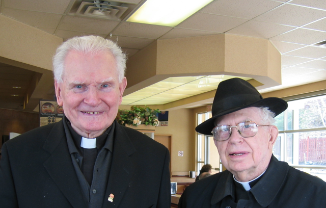"A little humour:  ""If there is one thing I am proud of, it is my humility.""   Enjoying joking with Fr. Ted Colleton RIP."