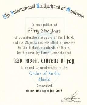 2015 Order of Merlin