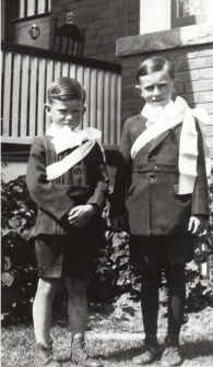 1922 My First Holy Communion with my brother Edward