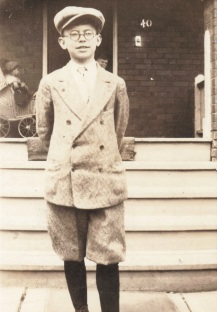 1928 Age 13 Vincent Nicholas Foy, at Foy family home, 40 Fulton Avenue, Toronto