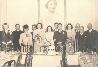 1944 my brother Edward Foy's wedding (married Lenore Thompson)