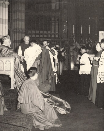 1957 Msgr. Barnett & I were enrolled as Monsignors this day at St. Michael's Cathedral