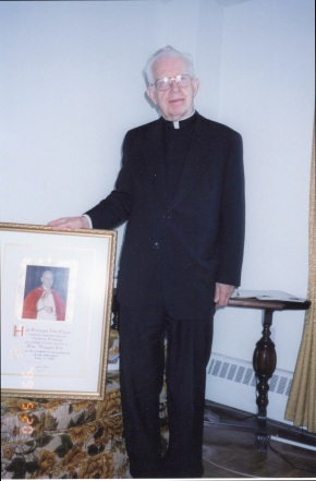 Bishop Roman Danylak gave me the gift of a papal blessing