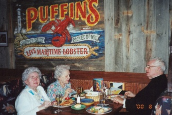 2002 Dinner with two of my sisters, Shirley and Doreen