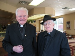 2007 visiting with Fr. Ted Colleton