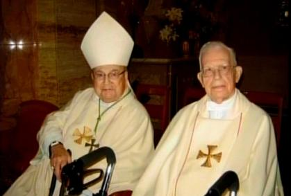 2009 with Bishop Lacey at my 70th Ordination Anniversary Mass