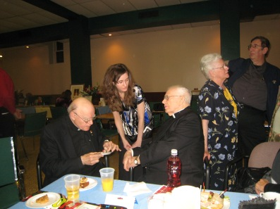 2009 With Fr De Valk at my 70th Ordination Anniversary