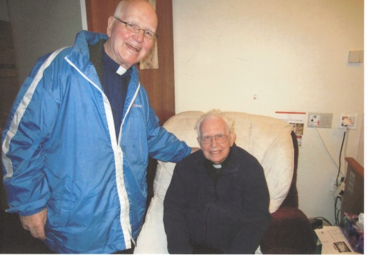 2011 A priest visiting me at Providence Villa