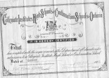 1928 Primary School Diploma