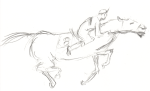 Sketch of horse racing 2008
