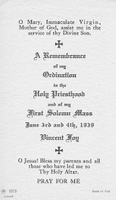 1939 MSGR Ord Holy Card side 2