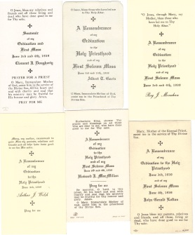 1939 Odination cards more B