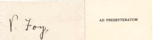 1939 Ad Presbyteratum