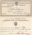 Certificates of Promotion
