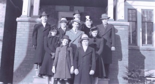 My family in 1941 at our home on Fulton Avenue.